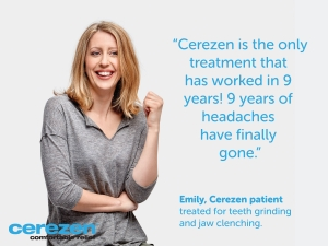 Cerezen promotional post with woman